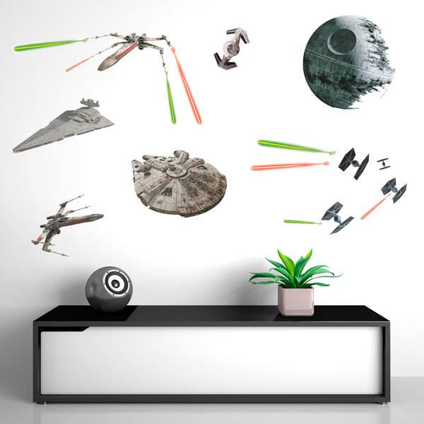 Wall Stickers: Star Wars Classic Ships