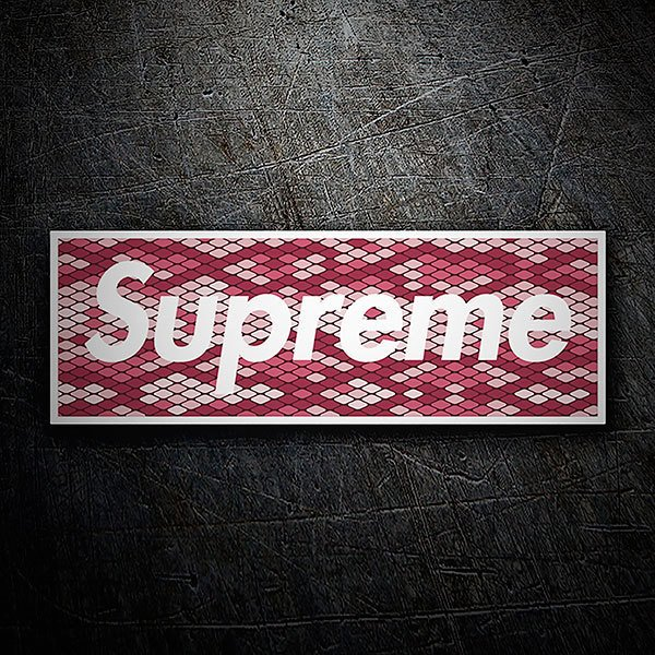Car & Motorbike Stickers: Supreme tiles