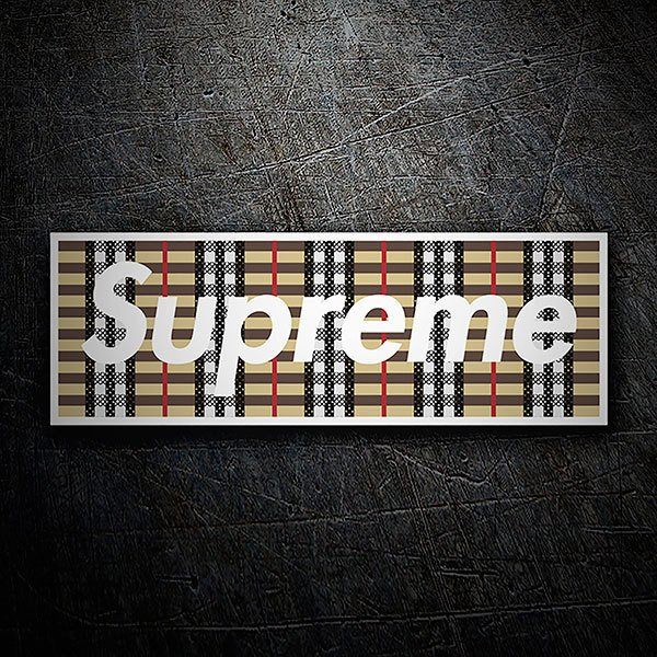 Car & Motorbike Stickers: Supreme fabric