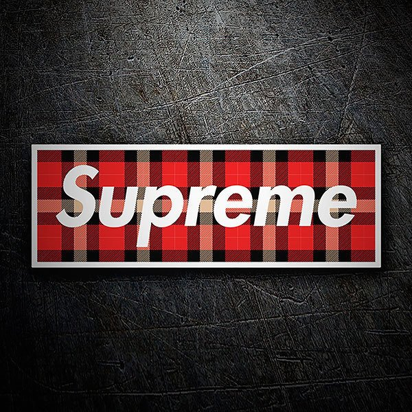 Car & Motorbike Stickers: Supreme plaid skirt