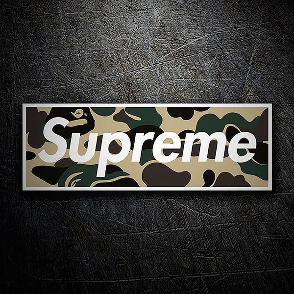 Car & Motorbike Stickers: Supreme camouflage