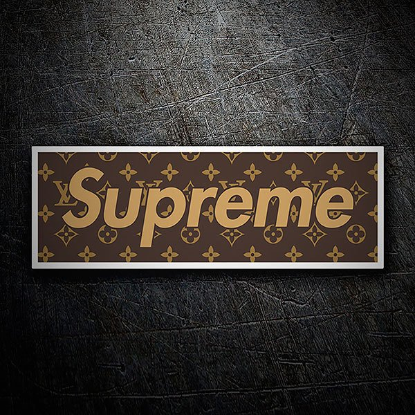 Car & Motorbike Stickers: Supreme Real