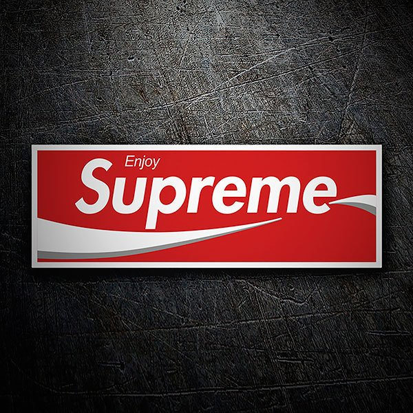 Car & Motorbike Stickers: Supreme Enjoy