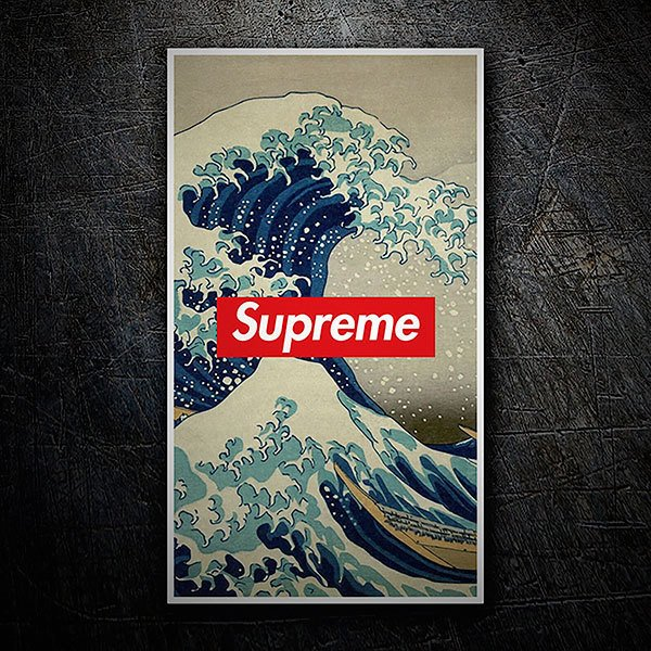 Car & Motorbike Stickers: Supreme big wave