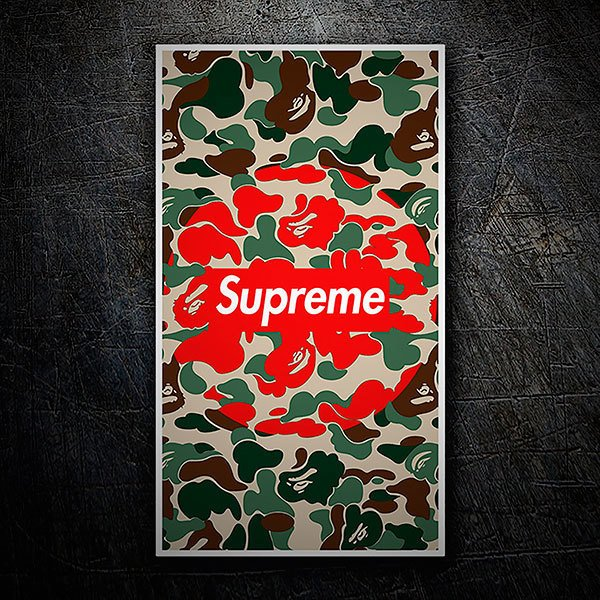 Car & Motorbike Stickers: Supreme military