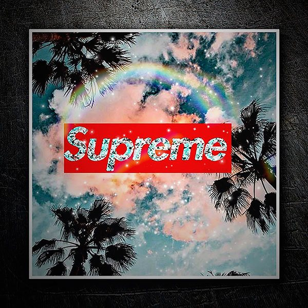 Car & Motorbike Stickers: Supreme sky