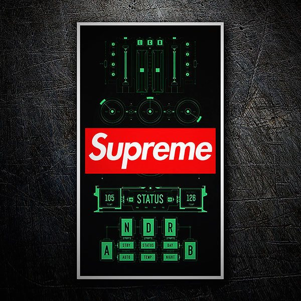 Car & Motorbike Stickers: Supreme DJ