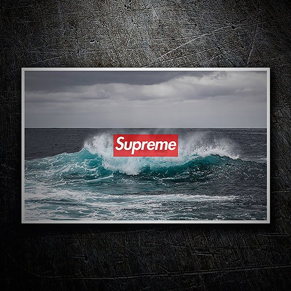 Car & Motorbike Stickers: Supreme sea