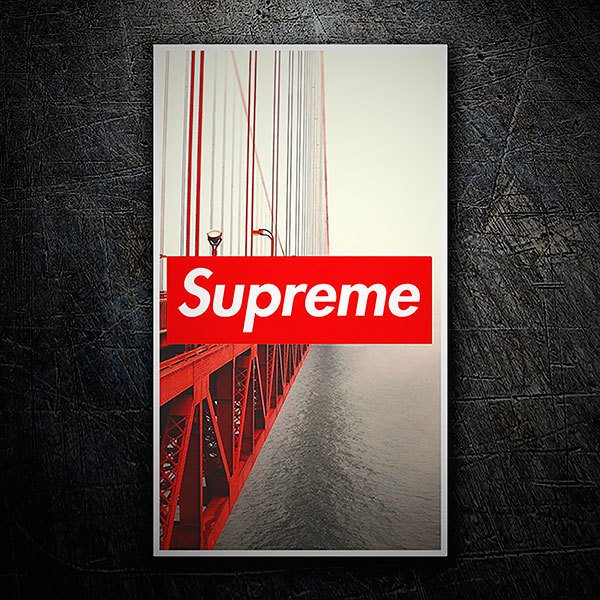 Car & Motorbike Stickers: Supreme bridge