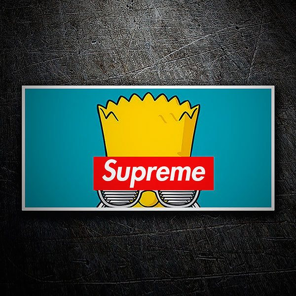 Car & Motorbike Stickers: Supreme Bart Simpson
