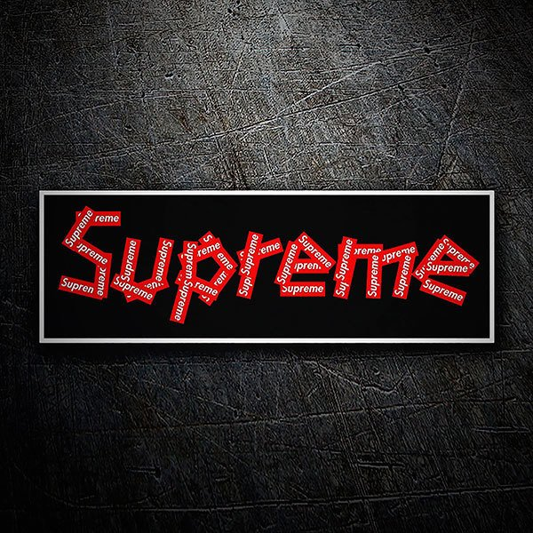 Car & Motorbike Stickers: Supreme collage