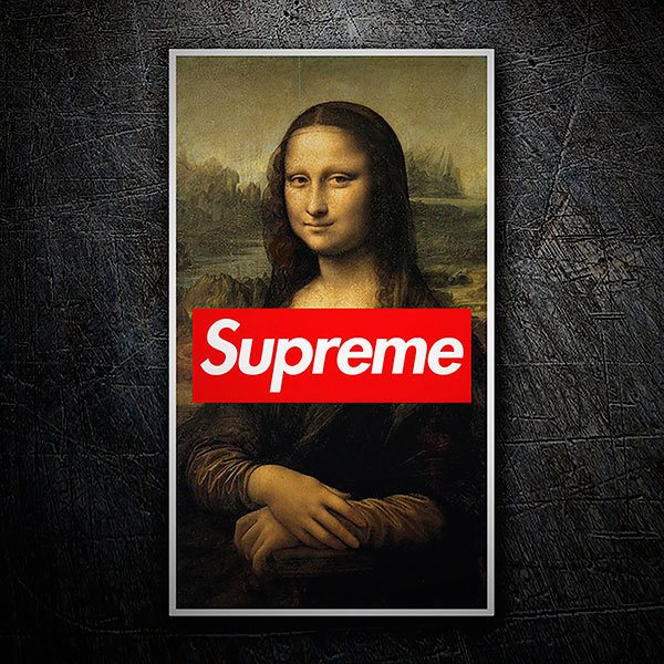 Car & Motorbike Stickers: Supreme Mona Lisa