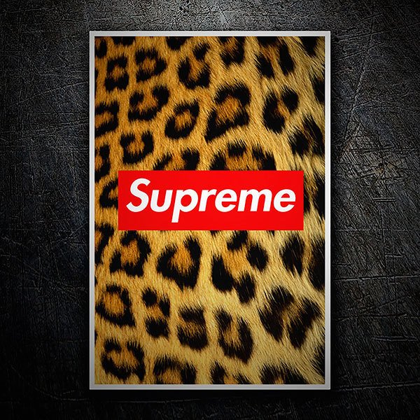 Car & Motorbike Stickers: Supreme leopard