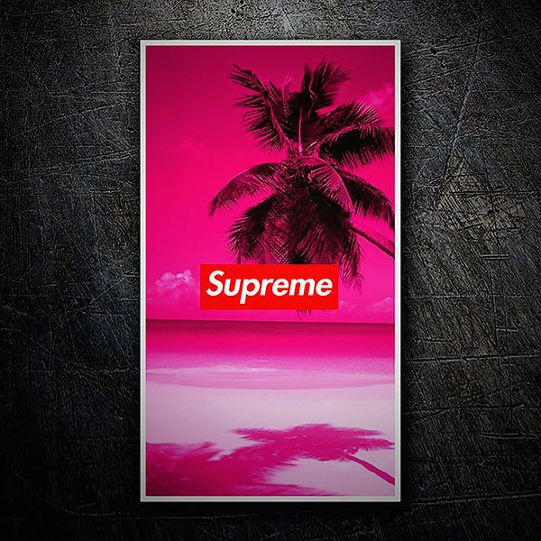 Car & Motorbike Stickers: Supreme beach