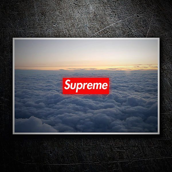 Car & Motorbike Stickers: Supreme clouds