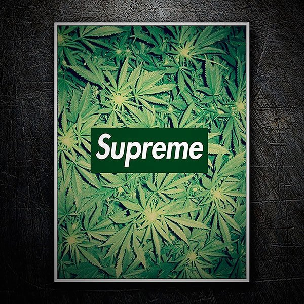 Car & Motorbike Stickers: Supreme marijuana