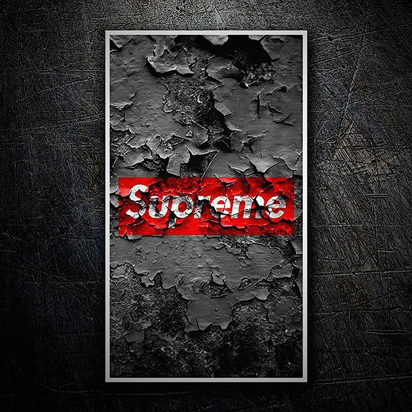 Car & Motorbike Stickers: Supreme wall