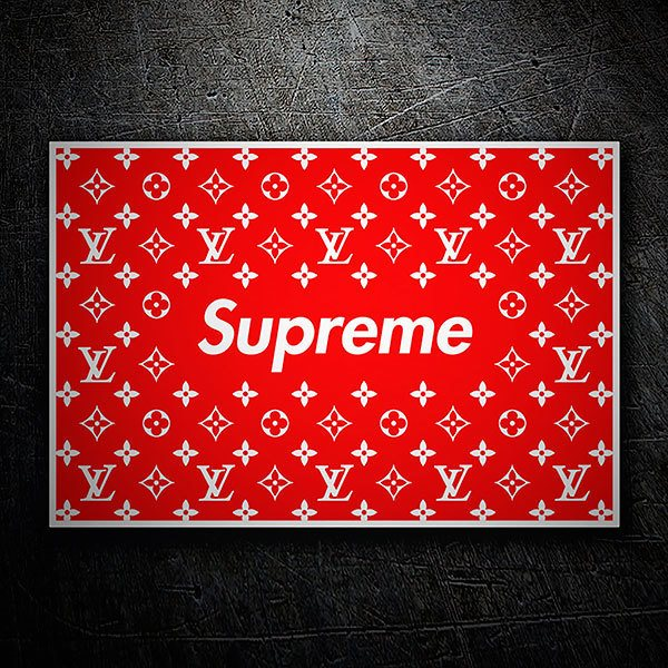 Car & Motorbike Stickers: Supreme photocall