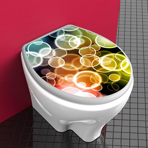 Wall Stickers: Top WC Colored circles