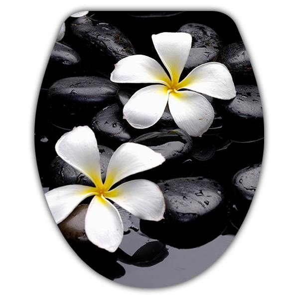 Wall Stickers: Top WC flowers frangipani