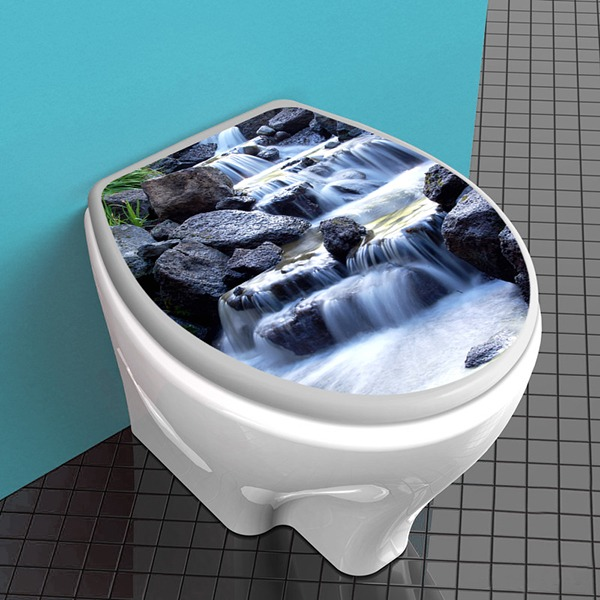 Wall Stickers: Top WC waterfall