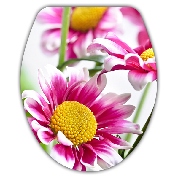 Wall Stickers: top wc pink flowers