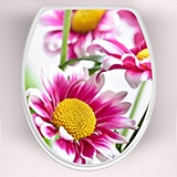 Wall Stickers: top wc pink flowers 3