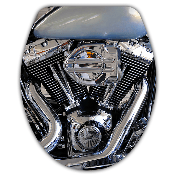 Wall Stickers: Top wc Harley engine