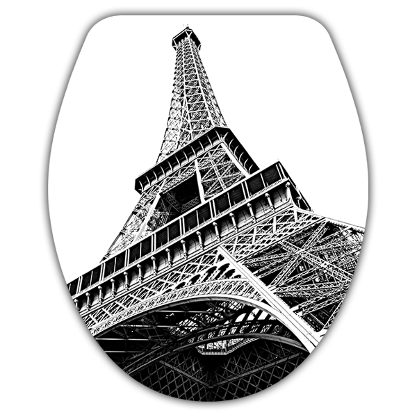 Wall Stickers: Top wc Eiffel Tower