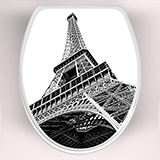 Wall Stickers: Top wc Eiffel Tower 3