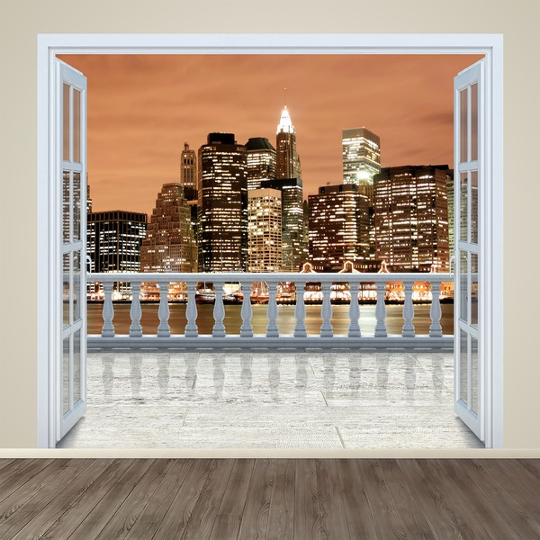 Wall Stickers: Terrace New York Sunset