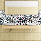 Wall Stickers: Kit 48 Tile stickers traditional 3