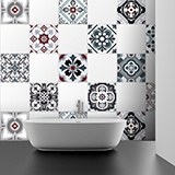 Wall Stickers: Kit 48 Tile stickers traditional 4