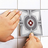 Wall Stickers: Kit 48 Tile stickers traditional 5