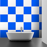 Wall Stickers: Kit 48 Tile stickers chequered 3