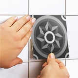 Wall Stickers: Kit 48 wall Tile stickers black and white 5