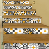 Wall Stickers: Kit 48 wall Tile stickers ornamental 3