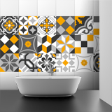 Wall Stickers: Kit 48 wall Tile stickers ornamental 4