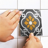 Wall Stickers: Kit 48 wall Tile stickers ornamental 5