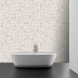 Wall Stickers: Kit 48 wall Tile stickers grey 4