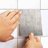 Wall Stickers: Kit 48 wall Tile stickers grey 5
