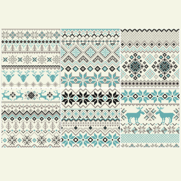 Wall Stickers: Kit 48 wall Tile stickers winter