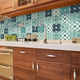 Wall Stickers: Kit 48 wall Tile stickers green mosaic 4