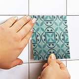Wall Stickers: Kit 48 wall Tile stickers green mosaic 5
