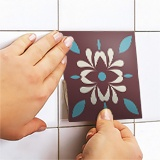 Wall Stickers: Kit 48 wall tile stickers retro 5