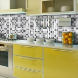 Wall Stickers: Kit 48 wall Tile stickers grey mosaic 4
