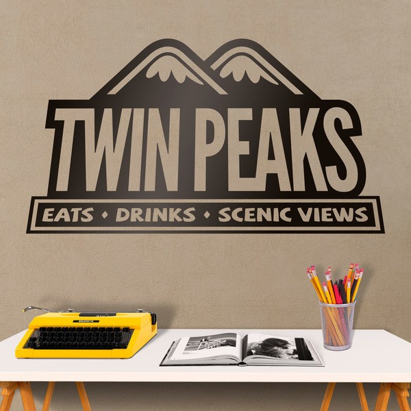Wall Stickers: Twin Peaks Restaurant logo
