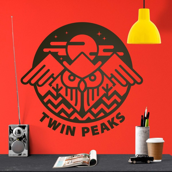 Wall Stickers: Owl and Twin Peaks Symbol