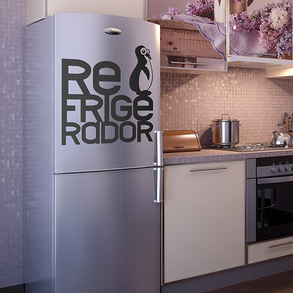 Wall Stickers: Refrigerator Penguin