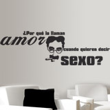 Wall Stickers: Amor Sexo - Groucho Marx 2